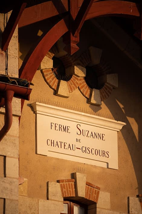 Details of Suzanne farm at Château Giscours