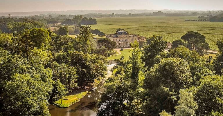 The vast Giscours park and the forest